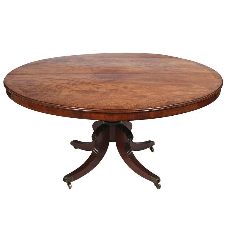 Circular Regency Mahogany Pedestal Dining Table