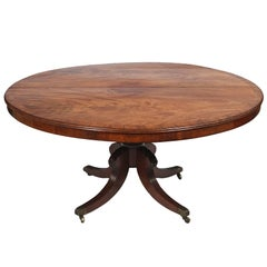 Circular Regency Mahogany Pedestal Dining Table