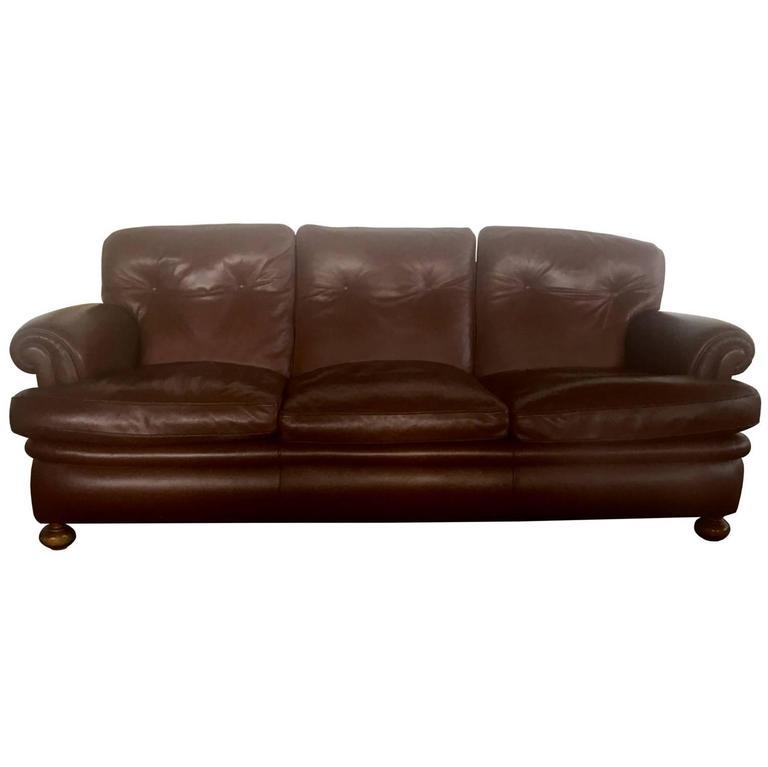 Poltrona Frau Leather Sofa Model Dream Italy 1967 For