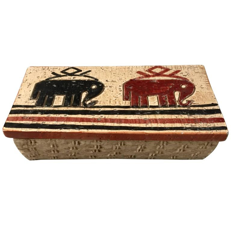 Rosenthal Netter Ceramic Box with Elephants