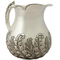 Antique Victorian Sterling Silver Water or Cordial Jug