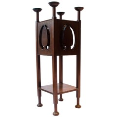 William James Neatby attr An Arts & Crafts Glasgow Style Mahogany Plant Stand