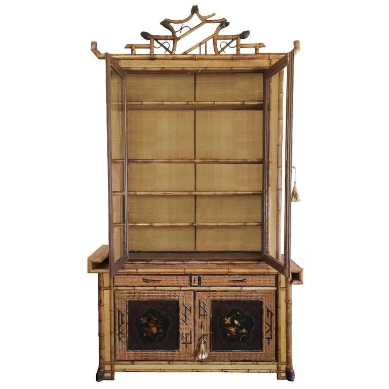 Perret et Vibert Japonais Bamboo Cabinet 2