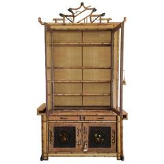 Fine english 19th english bamboo etagere for sale at 1stdibs for Cabinet japonais