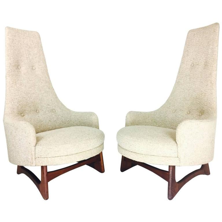Pair Of Tall Back Adrian Pearsall Armchairs For Craft Associates For Sale