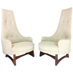 Pair of Tall Back Adrian Pearsall Armchairs for Craft Associates