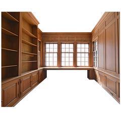 Pine Paneled Library, circa 1940