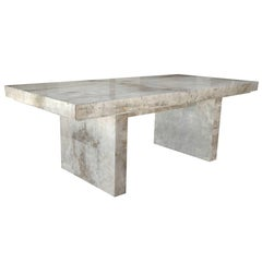 Parchment Dining Table in the Manner of Karl Springer