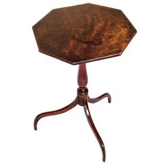 Antique English Georgian Primitive Rustic Octagonal Spider-Leg Tripod Table