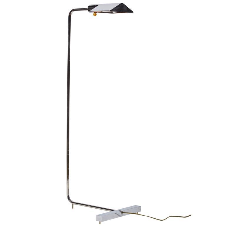 Rare Early Edition Chrome Floor Lamp by Cedric Hartman