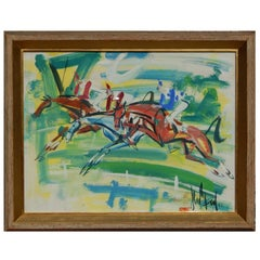 French Expressionist Gen Paul Gouache, Steeplechase