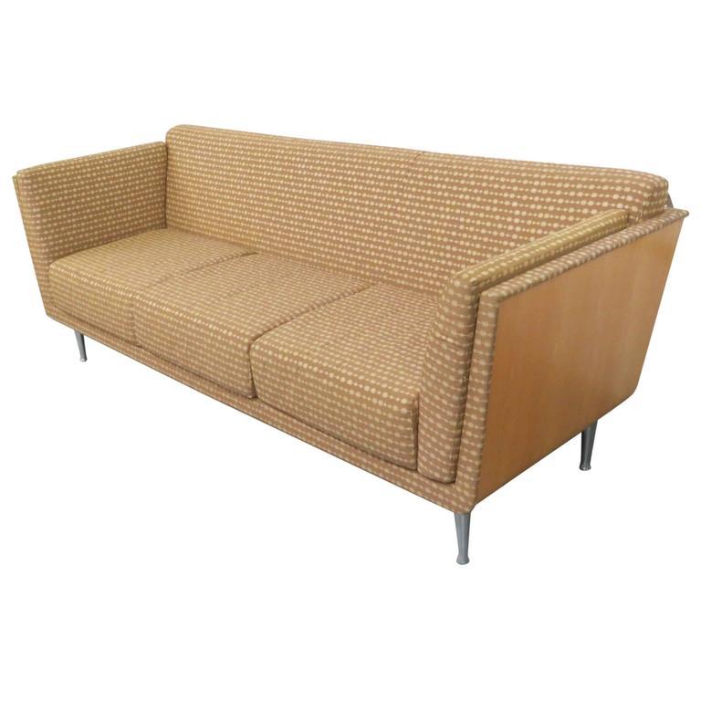 Knoll Modern Design Teak Upholstered Sofa For Sale At 1stdibs