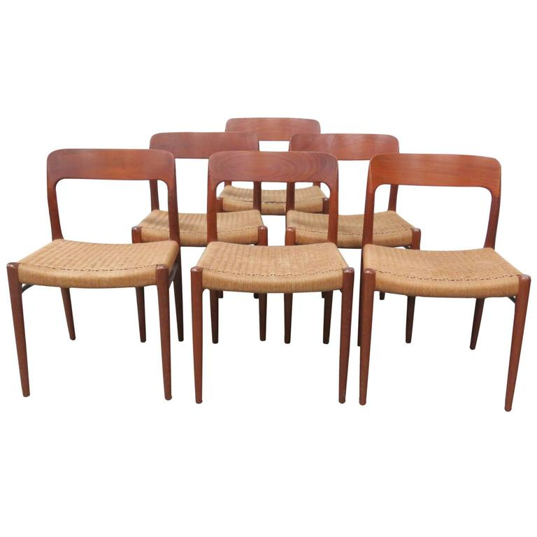 Six Niels Moller Teak Dining Chairs For Sale At 1stdibs