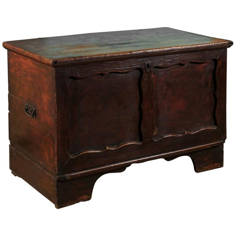 Antique English Painted Coffer