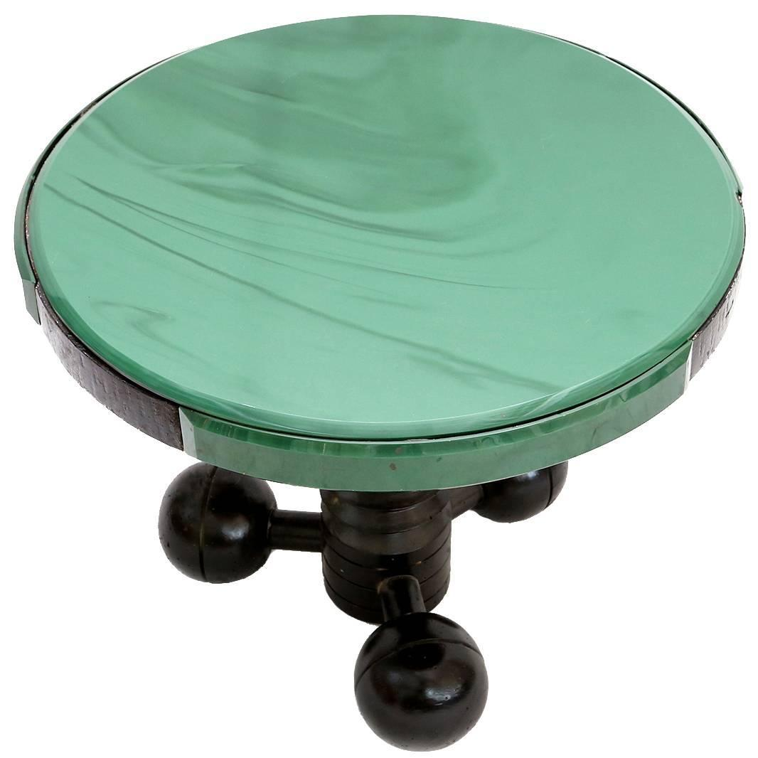 Charles dudouyt occasional table glass top for sale at 1stdibs for Glass top occasional tables