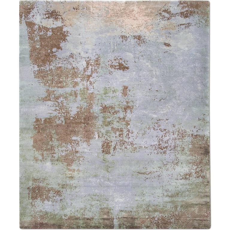 'Elements No. 01_Sand' Hand-knotted Tibetan Rug Made In