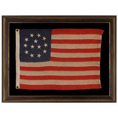 Extremely Rare 13 Star Flag with Stars in Wreath Pattern with Three Center Star