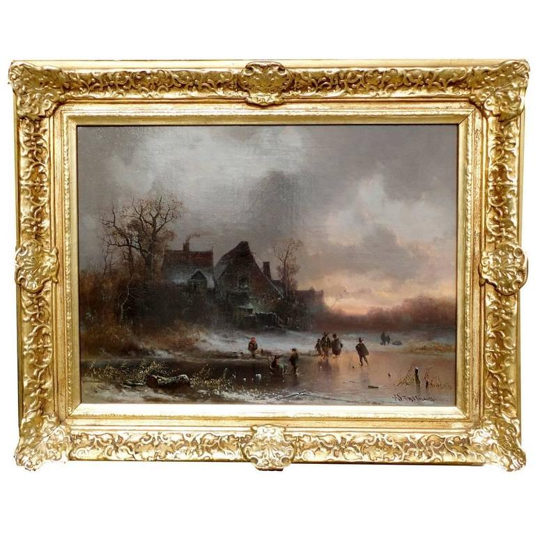 Winter Landscape, Oil on Canvas