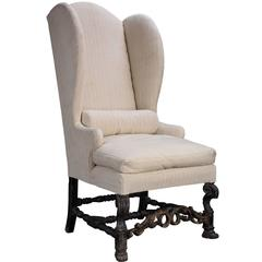 Tall Wingback Chair, circa 1880