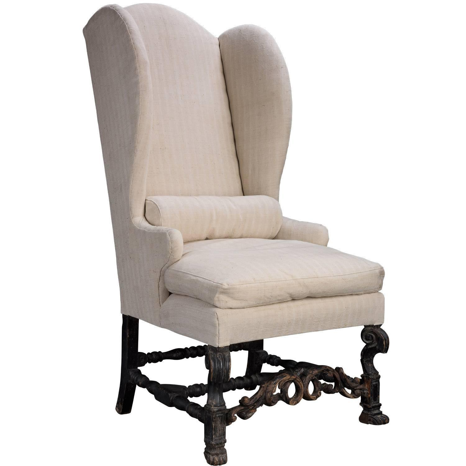 Tall Wingback Chair circa 1880 at 1stdibs
