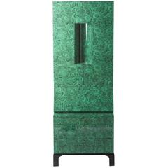 "Ateliers Fornasetti ""Malachite"" trumeau cabinet, Italy 2010"