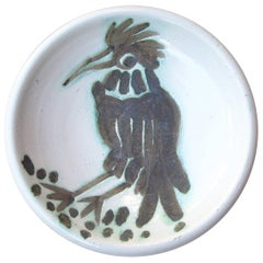 Pablo Picasso Ceramic Plate, Madoura, Vallauris Signed, Marked