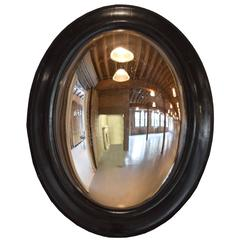 French Ebonized Convex Mirror
