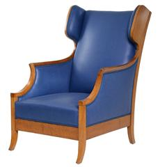 Frits Henningsen Oak Wing Chair, circa 1940s