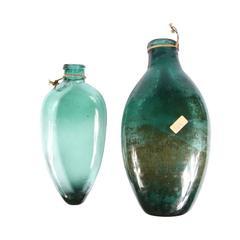 Two Spanish Large Flat Bottles, 16th-17th Century
