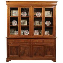 19th Century French Louis Phillippe Walnut Bookcase