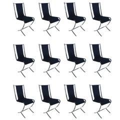 Set of 8 Maison Jansen Chrome Chairs