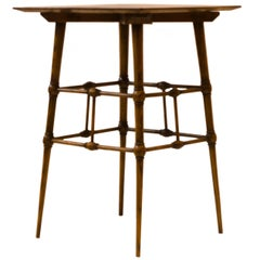 Liberty & Co, Attributed, Aesthetic Movement Ash Side Table with Bobbin Details.