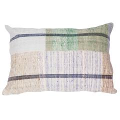Pillow Made out of a Mid-20th Century Anatolian Cotton Kilim