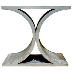 "Karl Springer Silver Leaf ""JMF End Table"" 1970s"