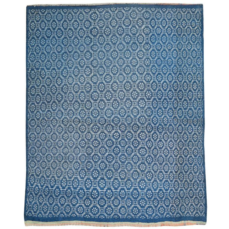 Vintage Persian Flat-Weave Rug