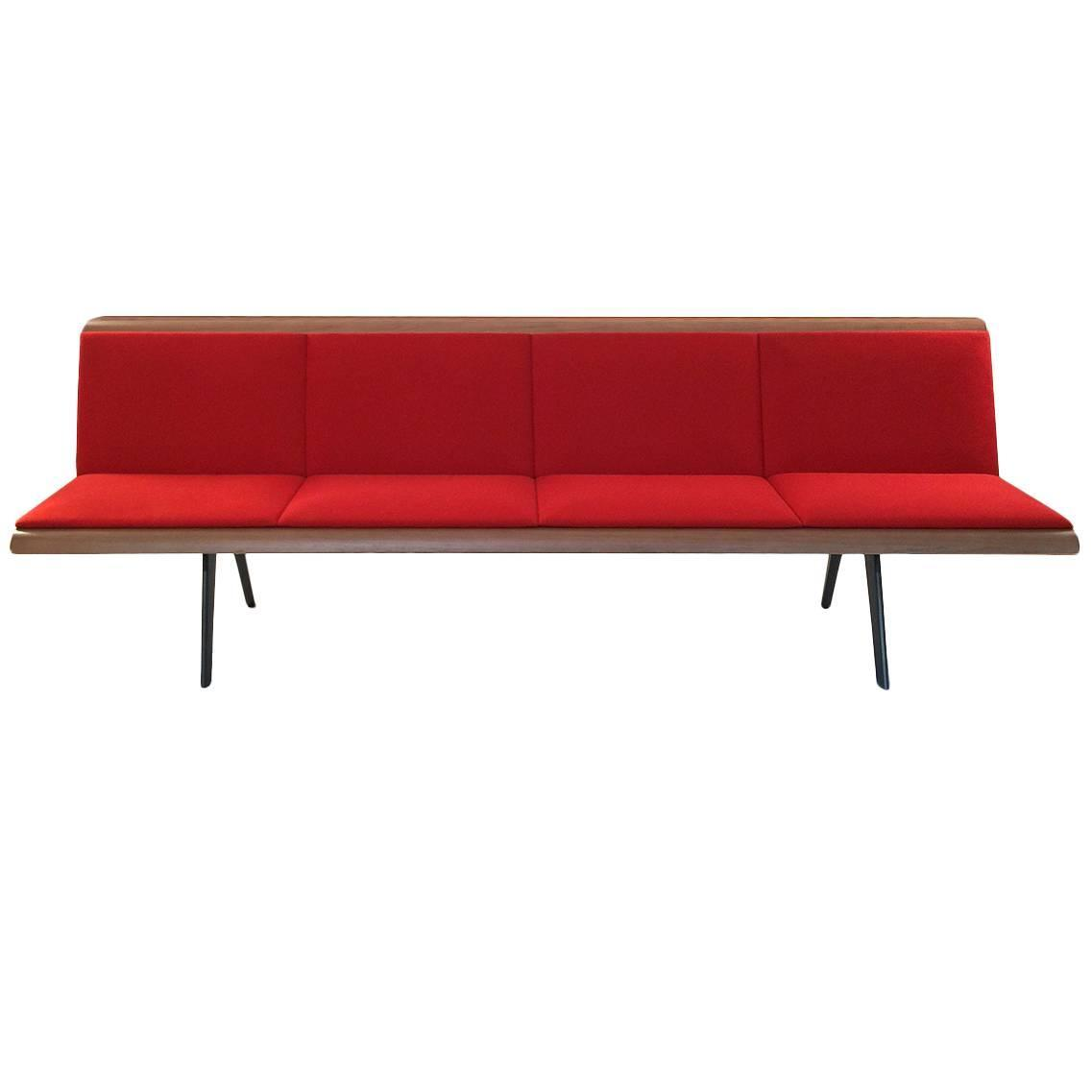 Red Zinta Four Seat Bench By Lievore Altherr Molina For Arper, Italy Modern  For Sale At 1stdibs