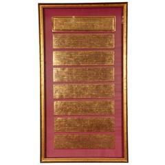 Antique Gilt Indian Prayer Book