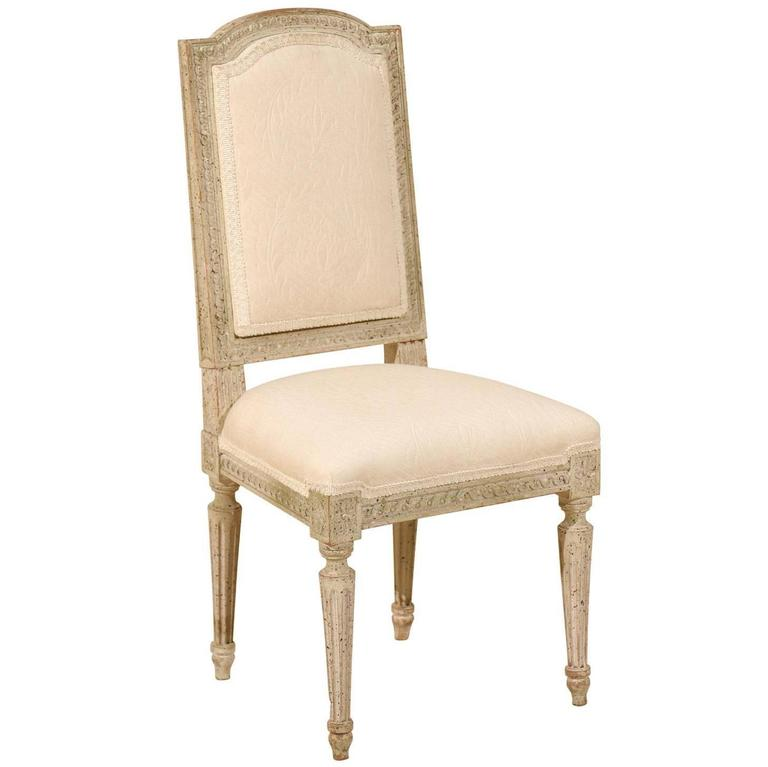 French Painted and Upholstered Child's Louis XVI Style Chair