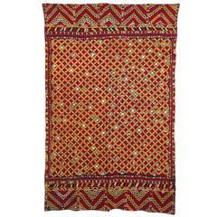 Overall Hand Embroidered Phulkari Textile