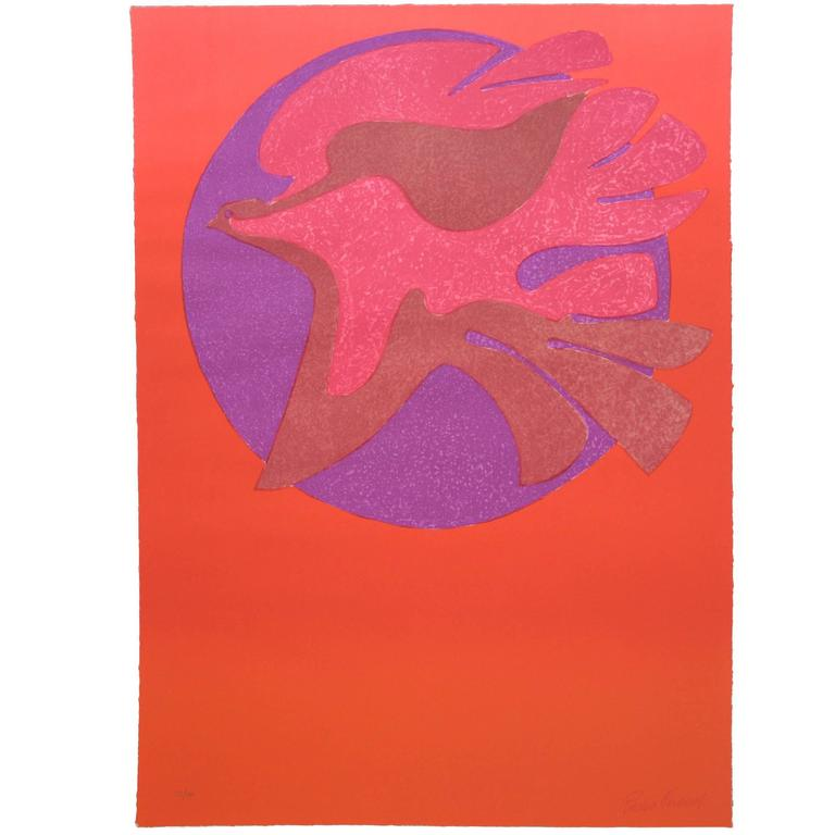 Pedro Coronel Litho 85-100 Dove, Untitled For Sale