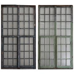 1850s French Painted Wood and Glass Windows