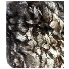 Exceptionnal Silver Fox Fur Throw/Rug
