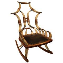 Mid-19th Century Horn Rocker Chair
