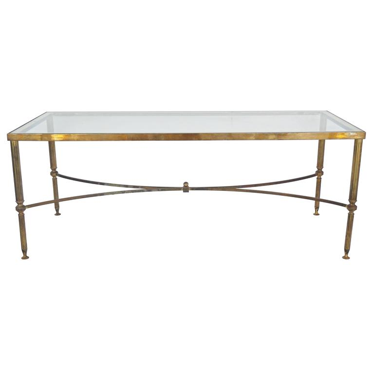 Mid Century Small Rectangular Coffee Table: Mid-Century Maison Jansen Style Rectangular Cocktail Table