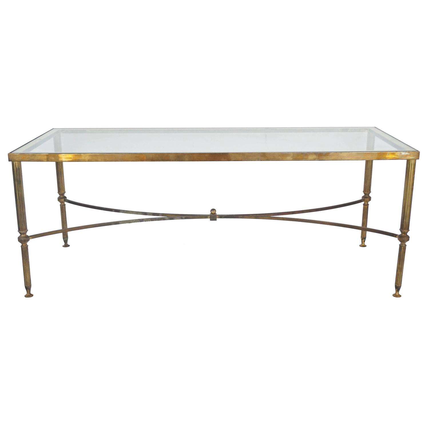 Mid Century Maison Jansen Style Rectangular Cocktail Table