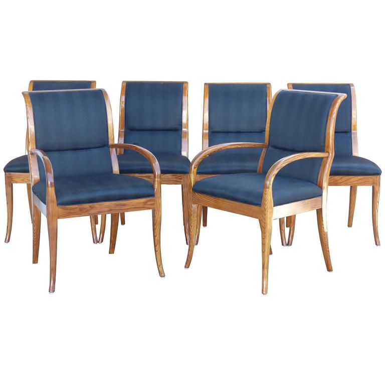 Contemporary Henredon Dining Chairs, Set Of Six At 1stdibs