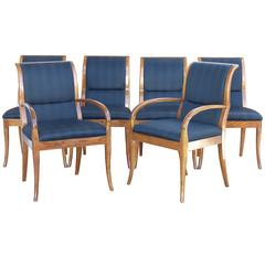 Contemporary Henredon Dining Chairs, Set of Six