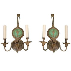 Pair of Neoclassical Sconces from the Ryerson Mansion