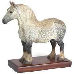Peter Giba Carved Percheron Horse