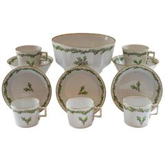 Late 18th Century Furstenberg Demitasse Bowl, Cups and Saucers